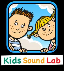 Icon Kidssoundlab með texta